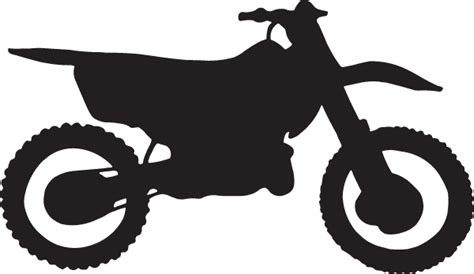 Dirt Bike Silhouette Decal : Decal City, The ULTIMATE
