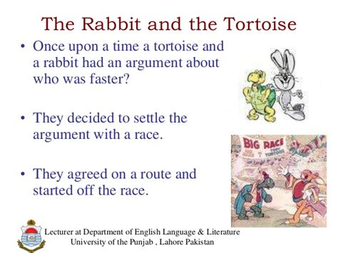New concept of the story hare and the tortoise