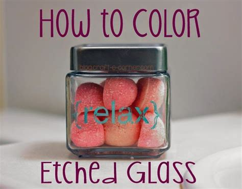 How to Color Etched Glass using Rub 'n Buff Patina / Craft
