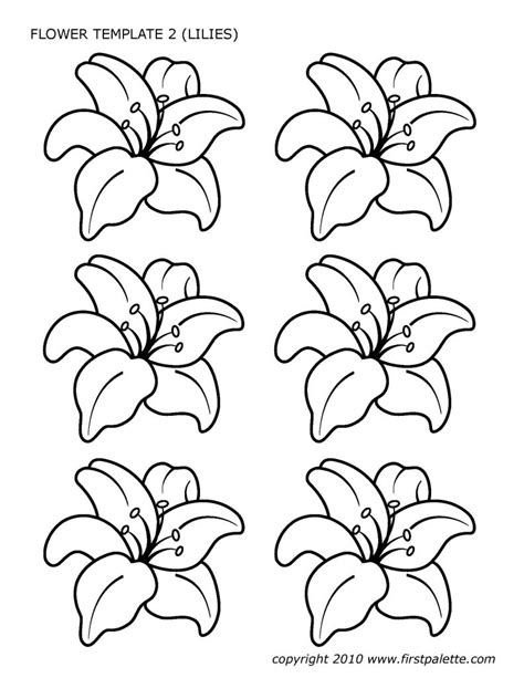 Flower Template Of Lilies - PDF, OXPS Format | e-database