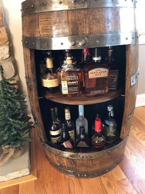 Whiskey Barrel Liquor Cabinet ~ Handcrafted From A