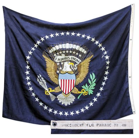 Sell your Limousine or Oval Office White House Flag at Auction