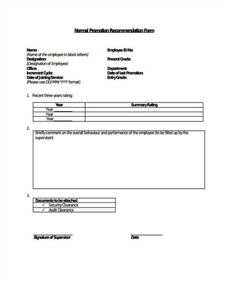 FREE 10+ Sample Employee Promotion Forms in PDF   MS Word