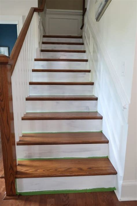 How-To Prep and Paint Stained Stairs White | Stairs