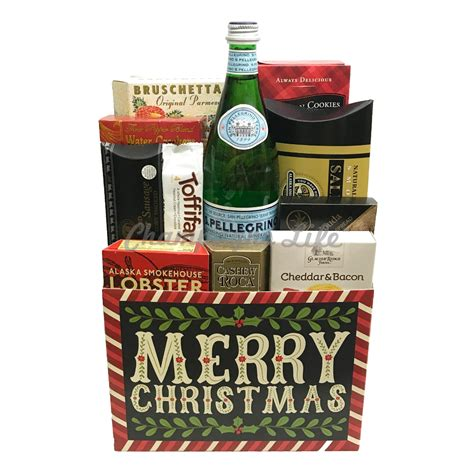 Christmas Meat and Cheese Gift Basket - Champagne Life