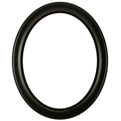 Oval Frame in Rubbed Black Finish   Weathered Black