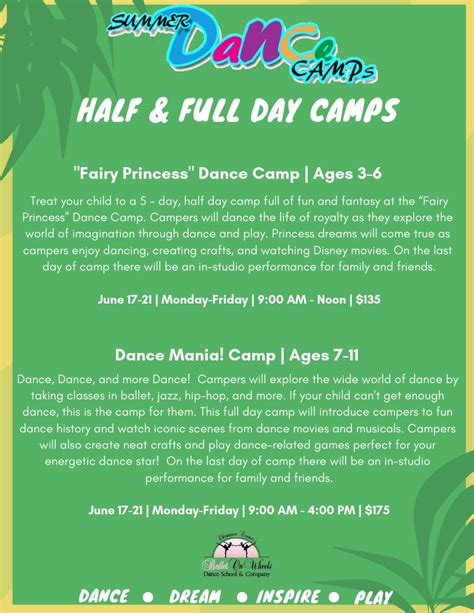 Summer @ BOW | Ballet On Wheels Dance Summer Camps | Tennessee