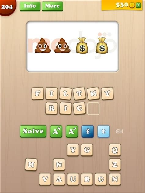 Emoji Words Answers, Solutions & Cheats: Level 201-210