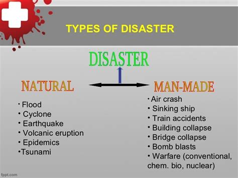 Types of disaster management