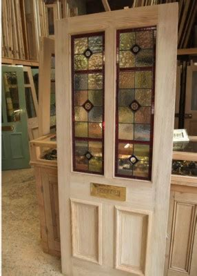 Four Panel Stained Glass Front Door - Stained Glass Doors