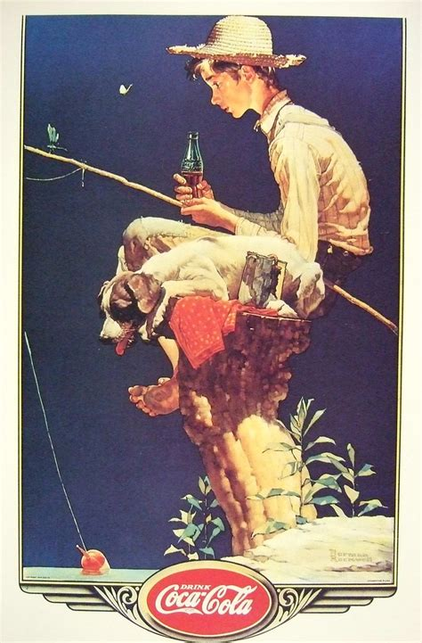 """""""Out Fishin"""" 1935 by Norman Rockwell   Norman Rockwell"""