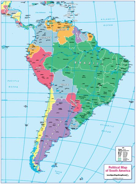 Children's political map of South America - £14