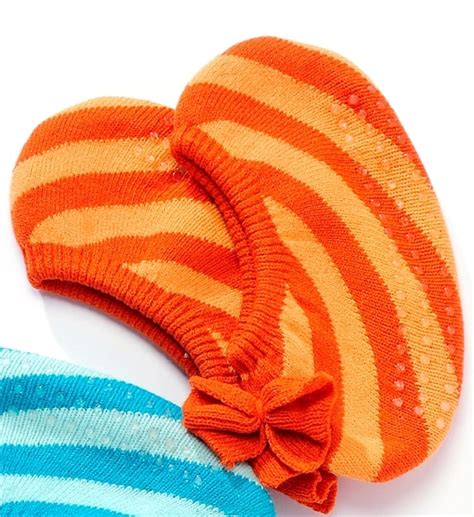Slipper Socks with ABS Gripping Sole Orange