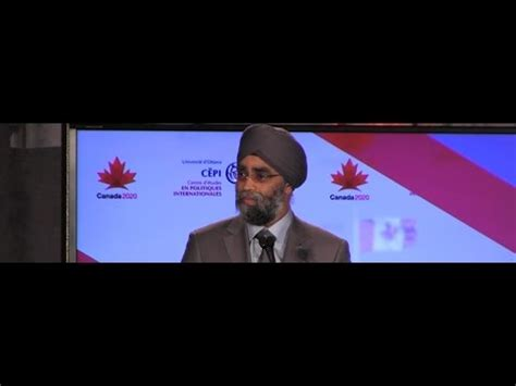 Defence Minister Sajjan's incoherent speech to