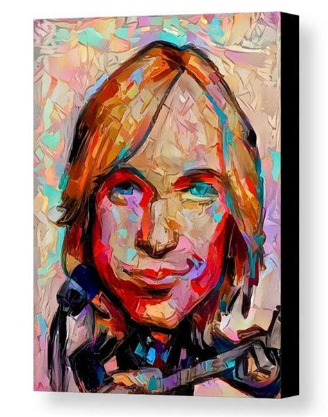 Framed Abstract Tom Petty Caricature 8