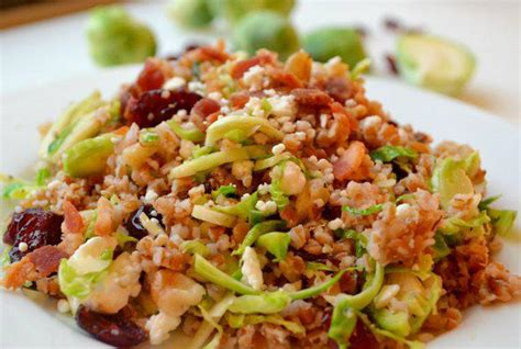 Bulgur Salad with Cranberries and Brussels Sprouts Recipe