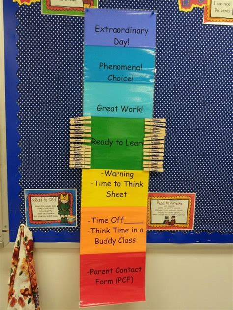 Our Clip Up Behavior System - Gearing Up For First Grade